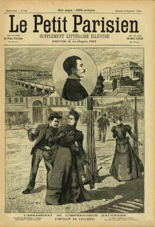 "The assassination of the Austrian-Hungarian empress Elisabeth in Geneva was perceived as a cross-border threat of security and triggered juridical, police and political responses on the international level (""Le Petit Parisien"", 25 Sept. 1898, no. 503)"