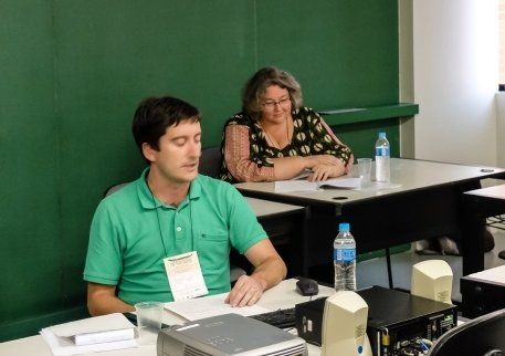 <em>José Luis Egío and Christiane Birr at the Session <em>The Men of the New World in the Works of the Salamanca Jurists and Theologians</em></em>