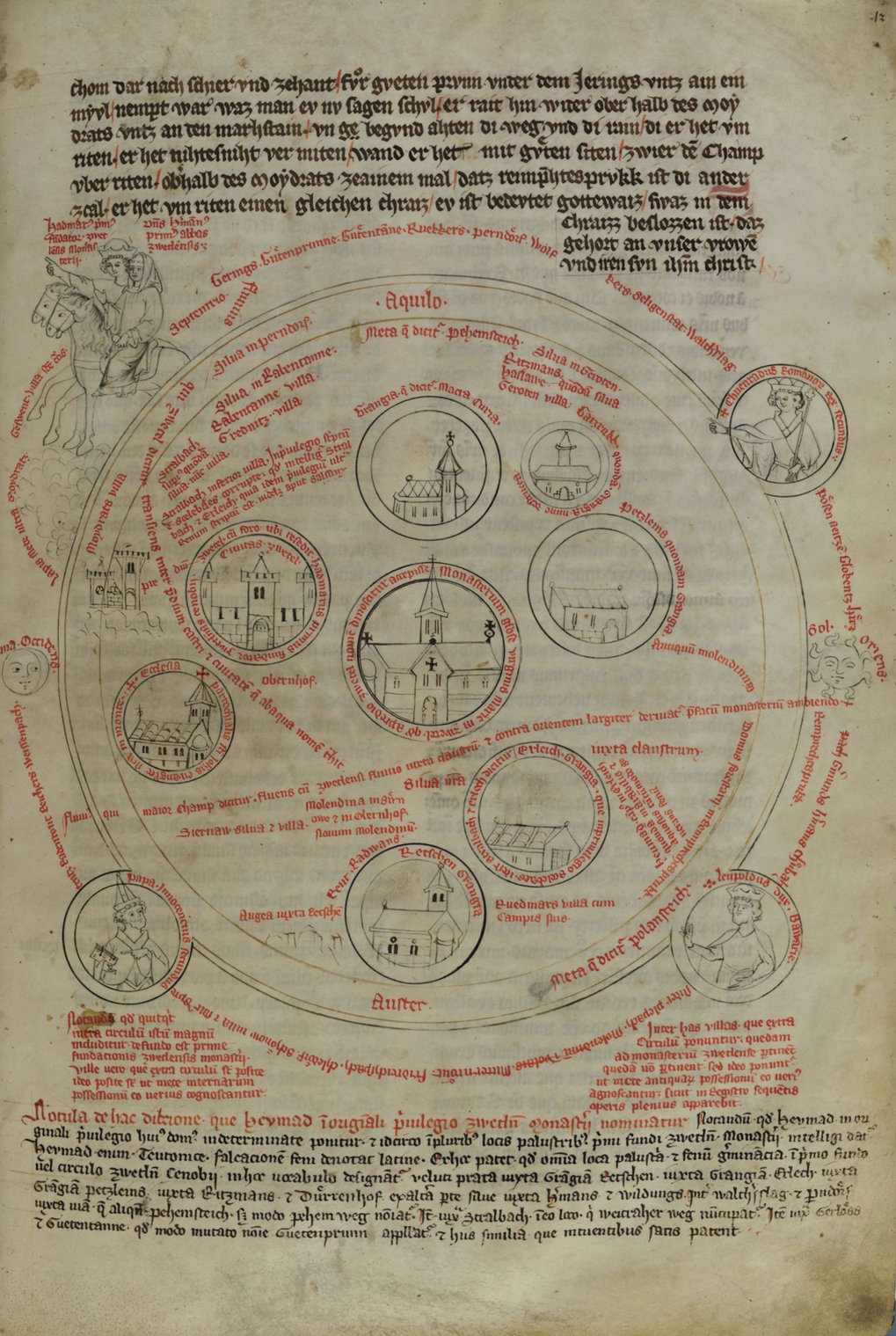 Zwettler Bärenhaut, Folio 12R; Quelle: Stiftsbibliothek Zwettl Codex 2/1. http://manuscripta.at/diglit/AT9800-A2_1/0001