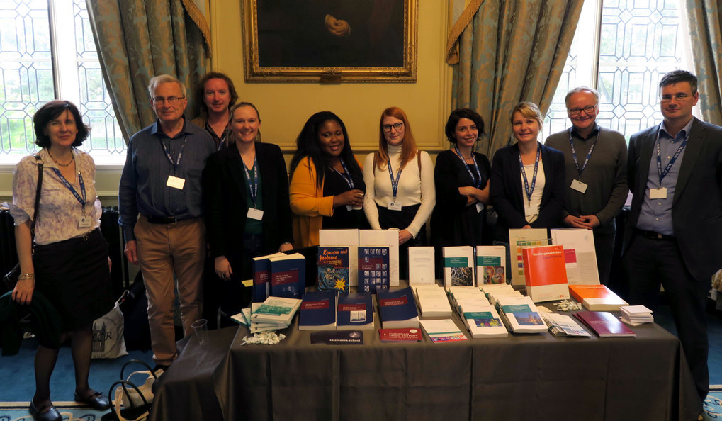 This year's book table with representatives of our institute and interested colleagues