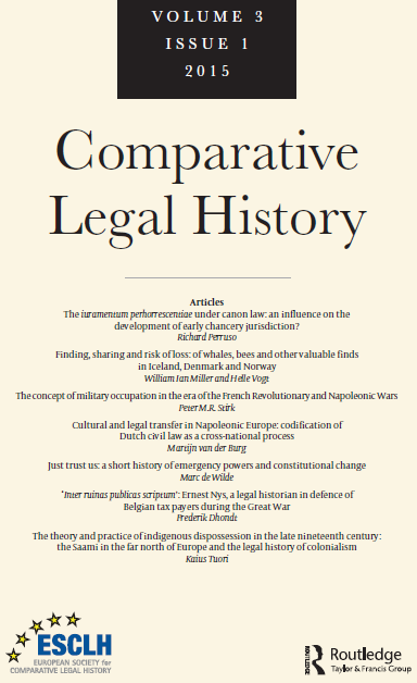 Legal Traditions. A Dialogue between Comparative Law and Comparative Legal History