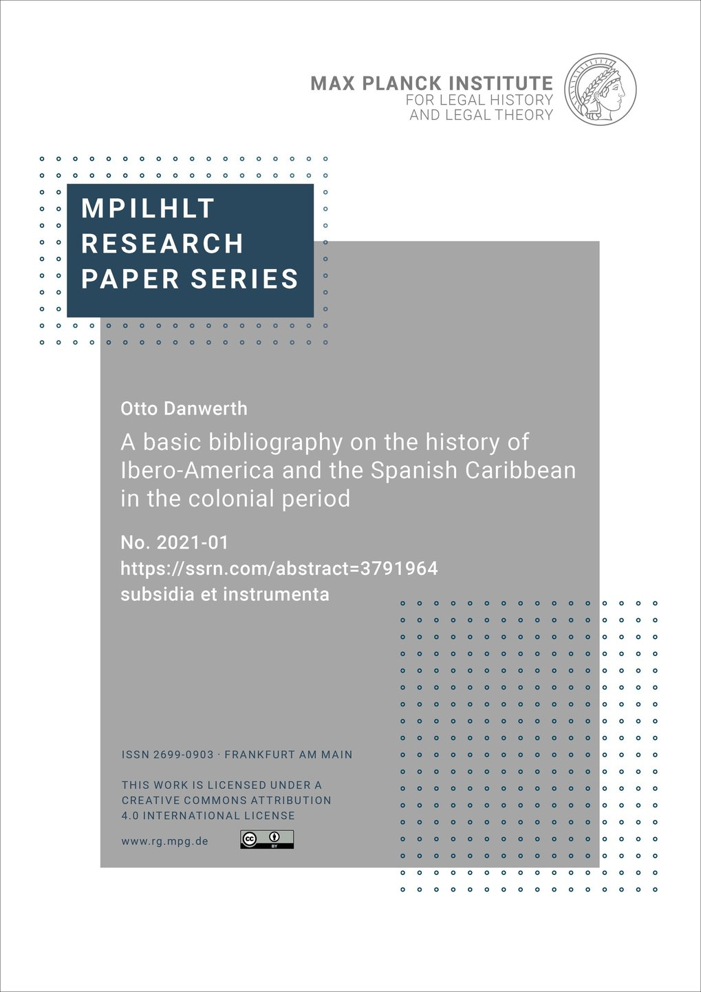MPIeR Research Paper Series