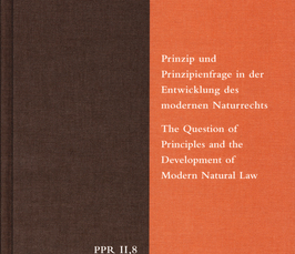 Naturrechtsgeschichte Und Wissensorganisation Eine Buchvorstellung
